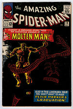 AMAZING SPIDER-MAN #28 1.8 1ST MOLTEN MAN OW/W PAGES SILVER AGE
