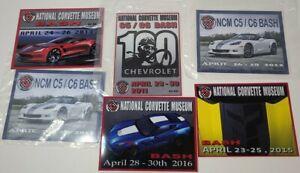 National Corvette Museum Bash Metal Tag Souviner Lot of (6) 2011-2015