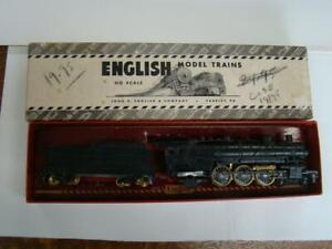 Vintage John English 4-6-2 HO Scale Locomotive, Cast Metal Engine and Tender