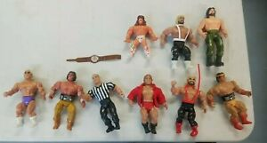 Lot Of 7 Vintage AWA Remco + 2 More Wrestling Action Figures Ric Flair Warrior +