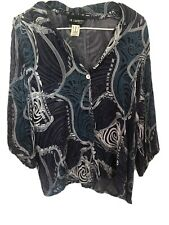In Cahoots Funky Boho Pure Silk Top Large