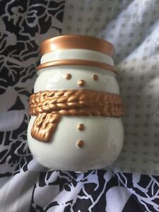 Yankee candle Christmas snowman tea light/votive holder