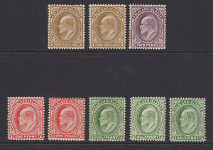 Falkland Islands. 1904-12. 1/2d to 1/-. Mounted mint.