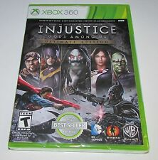 Injustice Gods Among Us Ultimate Edition Xbox 360 Brand New, Factory Sealed!