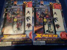 Marvel  X-Men Mini Comic Book Grow Toy  Xmen Magneto plus Wolverine