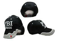 FBI Firm Believer In Jesus Christ Christian Black Embroidered Cap CAP613 Hat