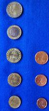 Monaco 2002 kl. KMS, 10 ct - 2 €, ergänzt mit 1, 2, 5 cent Fr 2002 (sehr rar)
