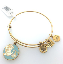 Alex and Ani Special Delivery Baby Boy Blue Bangle Bracelet, Gold