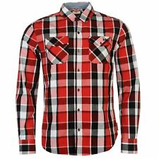 Lee Cooper Camisa de manga larga para hombre a Cuadros Informal S XXL NUEVO
