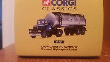 Corgi Classic Scammel Highwayman Tanker Crow Carrying Company,Diecast #16304,NIB