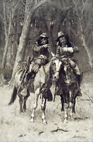 Cheyenne Scouts Patrolling the Big Timber by Remington Giclee Repro Canvas