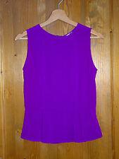 FOSSIL Original Damen leichtes Top Shirt Bluse 100% Seide in Lila Gr. XS ( NEU )