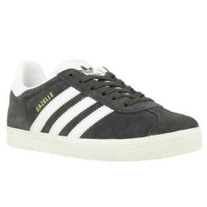 Adidas Boys Casual Sneakers Gazelle C Size US 12K Grey White Gold Suede BB2508