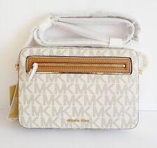 NWT Michael Kors Frame Out Item Large EW Crossbody Bag ~ Vanilla