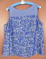 TB07731- ANN TAYLOR LOFT Women's Polyester Sleeveless Blouse Multicolor Geo XL