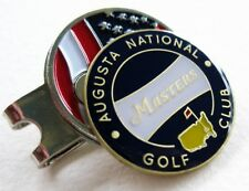 2018 Augusta Georgia MASTERS NAVY BALL MARKER with a USA FLAG HAT CLIP