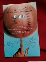 Signed Official Souvenir Program Filming of Eddie 1995 Whoopi Goldberg Charlotte