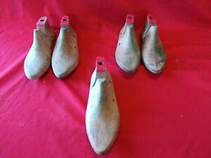 Job Lot 5 Vintage Wooden Shoe Lasts