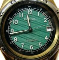 Fossil Star Master Unisex Weaved Leather Strap Backlite Date Watch Quartz-LU2509