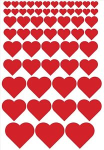 118 Love hearts Vinyl Decal / Stickers Glasses Craft Projects Reward Chart Etc..