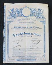 Action 1887 CREDIT FONCIER DE FRANCE  titre bond share 3