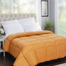 "Superior Down Alternative All Season Comforter QUEEN 86""x86"" Dusty Orange NEW"