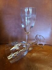 "Pair Of Waterford Crystal John Rocha Geo Oden 9 7/8"" Water Goblet"