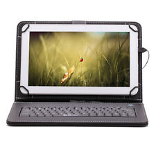 "iRULU 10.1"" Android 5.1 Quad Core Bluetooth White 8GB Tablets w/ Black Keyboard"