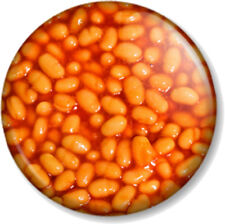 """Baked Beans 25mm 1"""" Pin Button Badge Fart Humour Breakfast Funny Image Heinz Pic"""