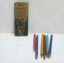Vintage Eagle Colored School Pencils No. 797 6 Assorted Colors w Original Box