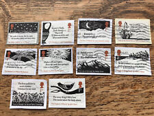Gb Stamps 2020 The Romantic Poets, Set Of 10 Used On Paper
