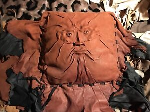 """""""Grichels"""" Amazing Leather Molded Face Large Pillow"""