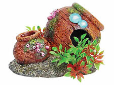 Rustic Pots with Plants Aquarium Ornament Fish Tank Decoration