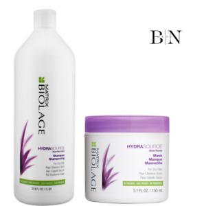 MATRIX BIOLAGE HYDRASOURCE Shampoo 1000ml & Mask 150ml DUO Very Dry Hair