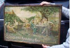 Vintage Early Victorian Lg 36X23 Metal Blatz Beer Sign Bar Man Cave Cabin Decor