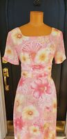 SUSAN BRISTOL Size 6 Lined Dress Yellow Floral Sleeveless Classic Neck EUC