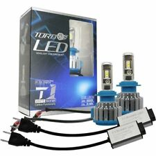 Car H7 LED Bulbs Headlight Conversion Kit 70W 6000K 8000LM White Turbo Fan T1