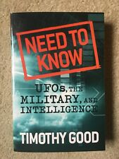 A Need to Know: UFOs, the Military and Intelligence by Good, Timothy 028307034X