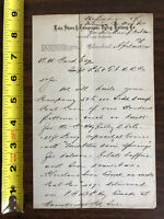 1874 Lake Shore Tuscarawas Valley Railway Letter Head Order Side Dump Coal Cars