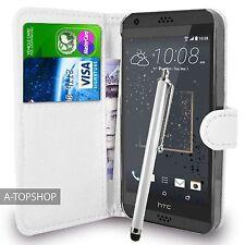 Blanco Funda Tipo Cartera Cuero Artificial Funda tipo libro para HTC Desire 530