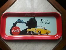"""Dealer Special1989 Coca Cola Tray """"Drive Refreshed"""" 19"""" x 8.5"""" Lot of 5 Trays"""