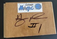 ANFERNEE Penny HARDAWAY Orlando MAGIC Signed Floor Tile NBA Basketball FREE SHIP