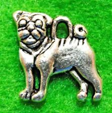 10Pcs. Tibetan Silver 2-Sided PUG DOG Charms Pendants Earring Drops Finding D26