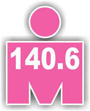 "5"" Pink Iron MAN 140.6 Decal Sticker Car Window bumper Running Jogging Marathon"