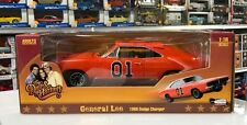 1969 Dodge Charger General Lee Dukes Of Hazzard 1/18 Scale By Auto World AMM964