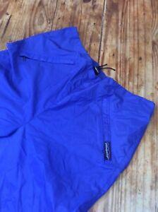 Vintage 80's PATAGONIA Mens Medium M  Outdoor Water repellant jogger Pants blue