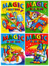 4 x A4 MAGIC PAINTING COLOURING ART BOOKS FOR CHILDREN NO MESS JUST WATER 920