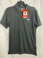 Men's NWT The North Face Plaited Crag Polo - Size Small Dark Gray