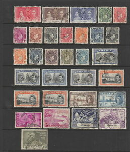 Nigeria , KGVI used collection, 31 stamps