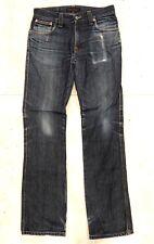 Nudie Low Slim Jim 30 x 32 Zipper Fly Slim Fit Dry Broken Twill Denim Jeans